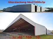 Überdachung 40x166x10m Stahlhalle