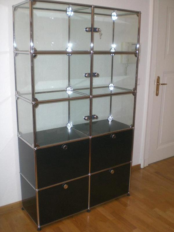 usm haller vitrinen schrank in bremen b rom bel kaufen und verkaufen ber private kleinanzeigen. Black Bedroom Furniture Sets. Home Design Ideas