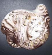 Venedig- Maske- Wanddeko handbemalt