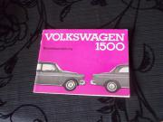 Volkswagen 1500 Original Betriebsanleitung von