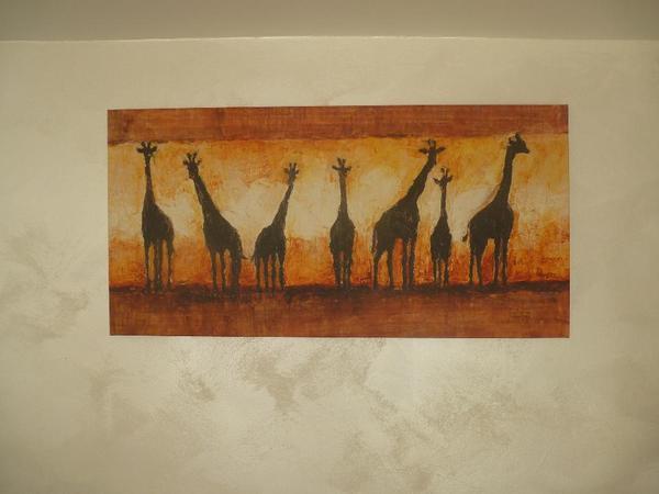 Wandbild Giraffen
