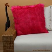 Webpelzkissen, 60x60cm, Pink,