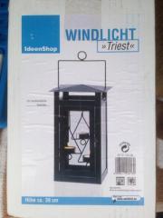 Windlicht für 3 Teelichter neu