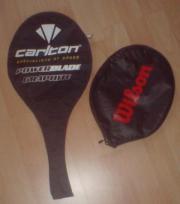 zwei Schlägerhüllen Badminton